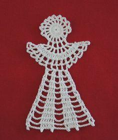 Świątecznie :-) Crochet Angel Pattern, Crochet Art, Christmas Decorations, Christmas Ornaments, Crochet Projects, Crochet Necklace, Xmas, Crochet Angels, Holiday Crochet
