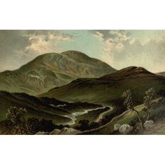 Posterazzi T Nelson & Sons Souvenir of Scotland 1897 Pass of Leny Canvas Art - T Nelson & Sons (24 x 36)