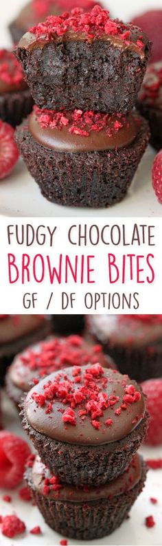 Fudgy Brownie Bites {gluten-free, dairy-free and whole grain options but can also be made with all-purpose flour} (hershey recipes sugar) Dessert Sans Gluten, Gluten Free Desserts, Dairy Free Recipes, Dessert Recipes, Teff Recipes, Hershey Recipes, Brownie Recipes, Chocolate Recipes, Yummy Treats