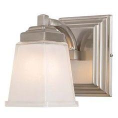 Shop allen roth 3 light grayson polished chrome bathroom vanity - Allen Roth 1 Light Elloree Brushed Nickel Bathroom