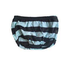Marc Organic Knickers, striped, light blue/dark green
