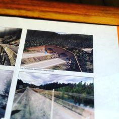 They are building one of those cool animal overpass bridges on I-90.