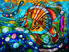 Beautiful ink on paper original in these vibrant colors - Swim Little Fishy by Marie Jamieson on Fine Art America