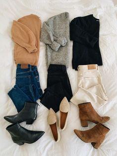 Mini Fall Capsule - The Style Nurse - Mini Fall Capsule Winter Fashion Outfits, Fall Winter Outfits, Look Fashion, Autumn Winter Fashion, Womens Fashion, Fall Fashion Trends, Fashion Tips, Mode Outfits, New Outfits
