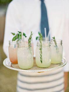 Herb Garnished Cocktails