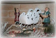 Vintage Christmas Decor- Sleigh