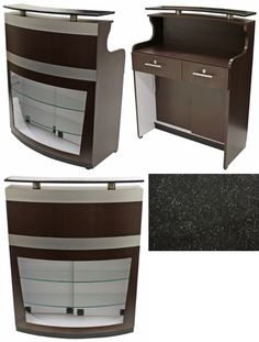 Reception Desk w/Granite Top CC-3112DS