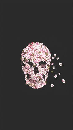 iPhone 5 Wallpapers: Photo skull, flowers http://iphonetokok-infinity.hu http://galaxytokok-infinity.hu http://htctokok-infinity.hu