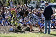 Duke and Duchess of Cambridge plant a tree with Winmalee Girls Guides.