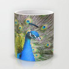 Blue peacock Mug by Ursula Di Chito | Society6