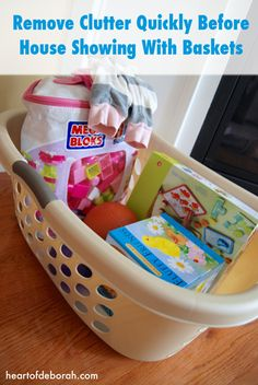 5 Tips For Selling Your House With Young Kids. #2 Use Your Car for Storage with Laundry Baskets. Heart of Deborah