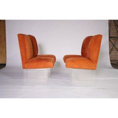 Image of Kagan Style Lucite Base Dining Chairs