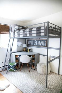 Bunk beds design and room ideas. Most amazing bunk beds for kids. Designing bunk beds that you might like. Boy Bedroom Design, Bed Design, Tiny Bedroom, Small Kids Room, Loft Bed, Loft Spaces, Bunk Bed Rooms, Boys Bedrooms, Bunk Beds Boys