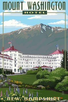 Mount Washington Hotel in Spring - Bretton Woods, New Hampshire - Lantern Press Poster