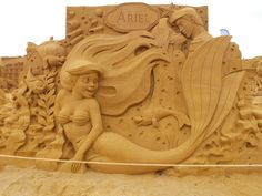 Sculpture Sand-art.-Oostende 2014.-