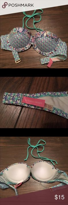 Victoria's Secret Swim Top Size 32B Victoria's Secret push up swim top with strap. Worn once. Victoria's Secret Swim Bikinis