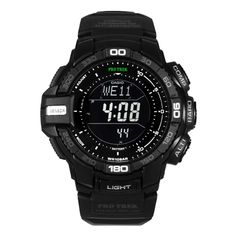 Casio - Mens ProTrek Solar Powered Chronograph Watch - PRG-270-1AER  RRP: £175.00 Online price: £125.00 You Save: £50.00 (29%)  www.lingraywatches.co.uk
