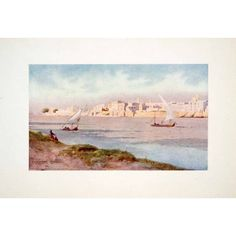 Nile Cairo Robert Talbot Kelly   Original Color Print: Home & Kitchen