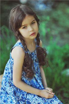Alisa Bragina, a Russian child model.                                                                                                                                                                                 More