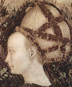 The frescoes of the church of Sant 'Anastasia in Verona. St. George and the Princess.   fragment  Antonio Pisanello