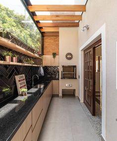 Dirty Kitchen Design, Outdoor Kitchen Design, Home Decor Kitchen, Interior Design Kitchen, Interior And Exterior, Dirty Kitchen Ideas, Country Kitchen, Minimal House Design, Minimal Home