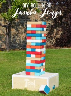 64 Ideas For Backyard Party Diy Decor Giant Jenga Outdoor Jenga, Yard Jenga, Jenga Diy, Outdoor Yard Games, Jenga Game, Giant Jenga, Backyard Games, Outdoor Toys, Outdoor Parties