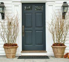 Idea for winter front door pots
