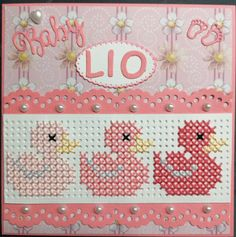 Mini Cross Stitch, Cross Stitch Cards, Cross Stitch Embroidery, Cross Stitch Designs, Cross Stitch Patterns, Knitting Patterns, Paper Smooches, Marianne Design, Card Patterns