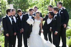 she can hang with the boys. #groomsmen #fashion #indy
