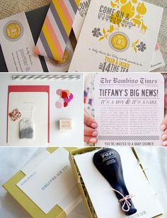 Invitation Inspiration! 20 Creative Baby Shower Invites