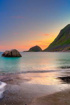 """Most Beautiful Beach"" Haukland, Lofoten, Norway by Magnus Larsson"