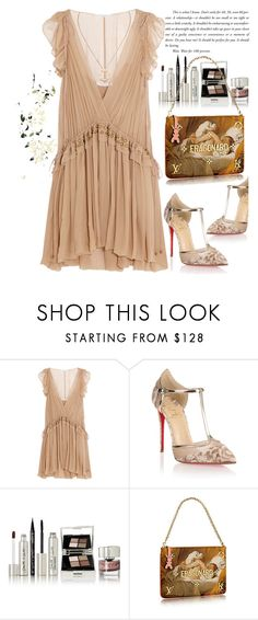 """""""Dreamy dresses"""" by jan31 ❤ liked on Polyvore featuring Chloé, Christian Louboutin, Smith & Cult, Cartier, Pumps, clutches, silk, metallics and dreamydresses"""