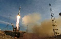 The Soyuz TMA-5 spacecraft blasts off
