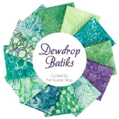 Dewdrop Batiks Fat Quarter Bundle<BR>Curated by Fat Quarter Shop