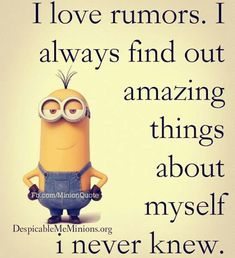 "These Funny and humor Minion are full updated and in new style.Just scroll down and keep reading these ""Top Minions New Quotes"" for laughing and share with your friends for make him laugh also. Funny Minion Pictures, Funny Minion Memes, Minions Quotes, Hilarious Memes, Minion Sayings, Minion Humor, Funny Images, Memes Humor, Citation Minion"
