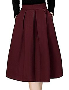 Midi Skirt,Bebonnie Women Scuba Casual A line Active High... https://www.amazon.com/dp/B01N8TUJSJ/ref=cm_sw_r_pi_dp_x_R2Bqyb2889S3M