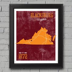 Virginia Tech University Print by UniversityPrints on Etsy, $12.00