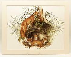 Vintage Red Fox Print Cabin Home Decor Fox Wall Art by SkitterCats, $15.00