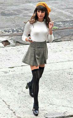 Lea Michelle's cute fall style