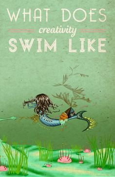 ORDERED  What Does Creativity Swim Like by looplooplooploop on Etsy, $30.00
