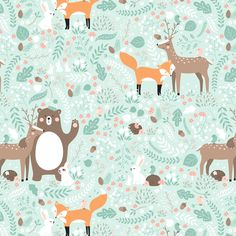 Forest friends fabric by innamoreva on Spoonflower - custom fabric