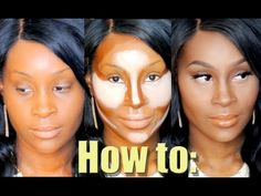 How to Highlight and Contour for round faces. Great for African ...