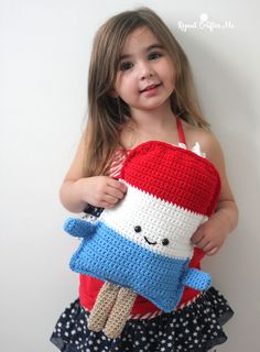 The 4th of July holiday can be a fun celebration filled with fireworks and BBQ'sbut for the little ones, it can be a bit overwhelming and scary. Especially when it gets dark and the loud firecrackers begin to go off. That's where this Patriotic Popsicle Crochet Cuddle Buddy comes to the rescue! A festive friend …