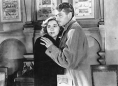 Joan Fontaine and Laurence Olivier in Rebecca (1940), directed by Alfred Hitchcock.