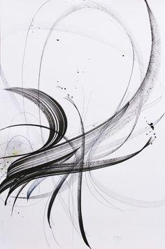 Only a Breath – Sophie Verbeek Pop Art Wallpaper, Mark Making, Calligraphy Art, Art Sketchbook, Black Art, Abstract Art, Abstract Lines, Watercolor Art, Tattoos