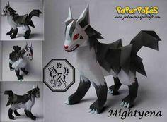 Pokemon Mightyena Papercraft
