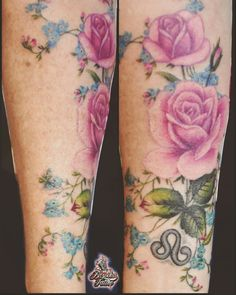 #tattoo #rosen #roses   #arm #rose #vergissmeinnicht #forgetmenot