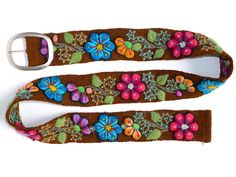 Wool embroidered belt