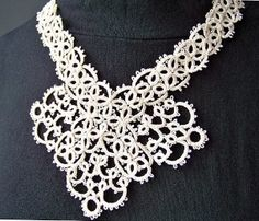 Beautiful Tatted Ivory Necklace