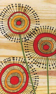 flower zentangle pattern